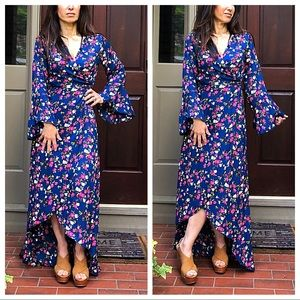 Absolutely gorgeous floral H/L wrap dress
